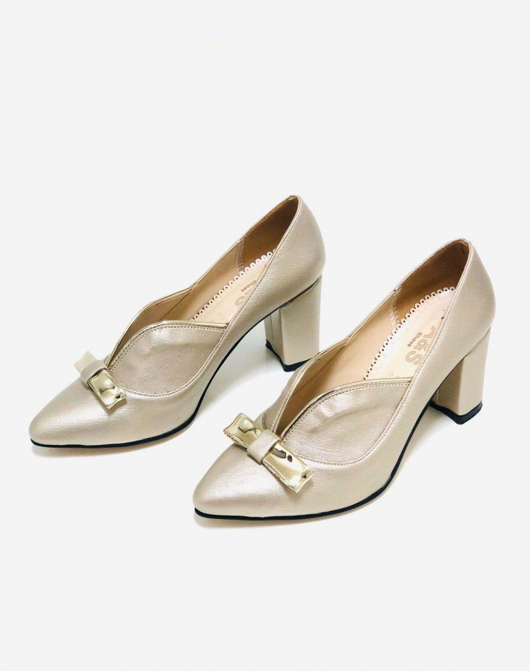 KALIN TOPUKLU STILETTO  GOLD RENK