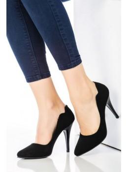 Topuklu Ayakkabı Siyah Suet