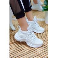 Bayan Spor Ayakkabı  Ortopedik Beyaz
