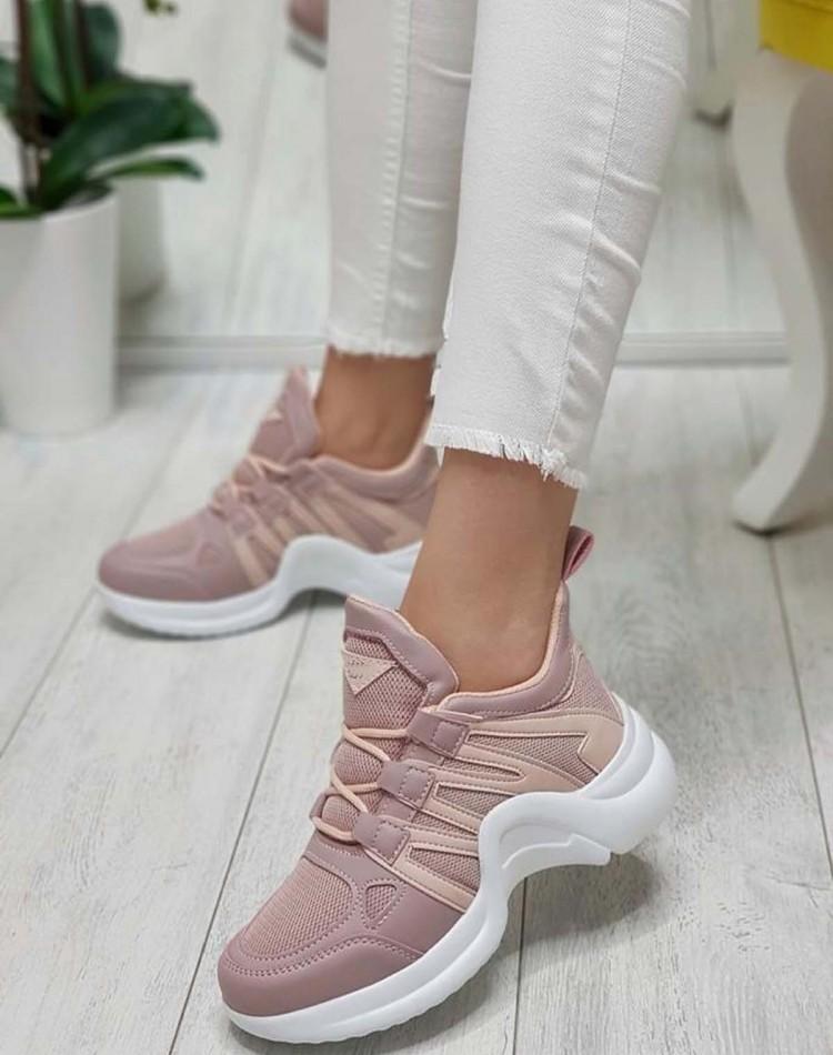 Bayan Spor Ayakkabı  Ortopedik Pudra