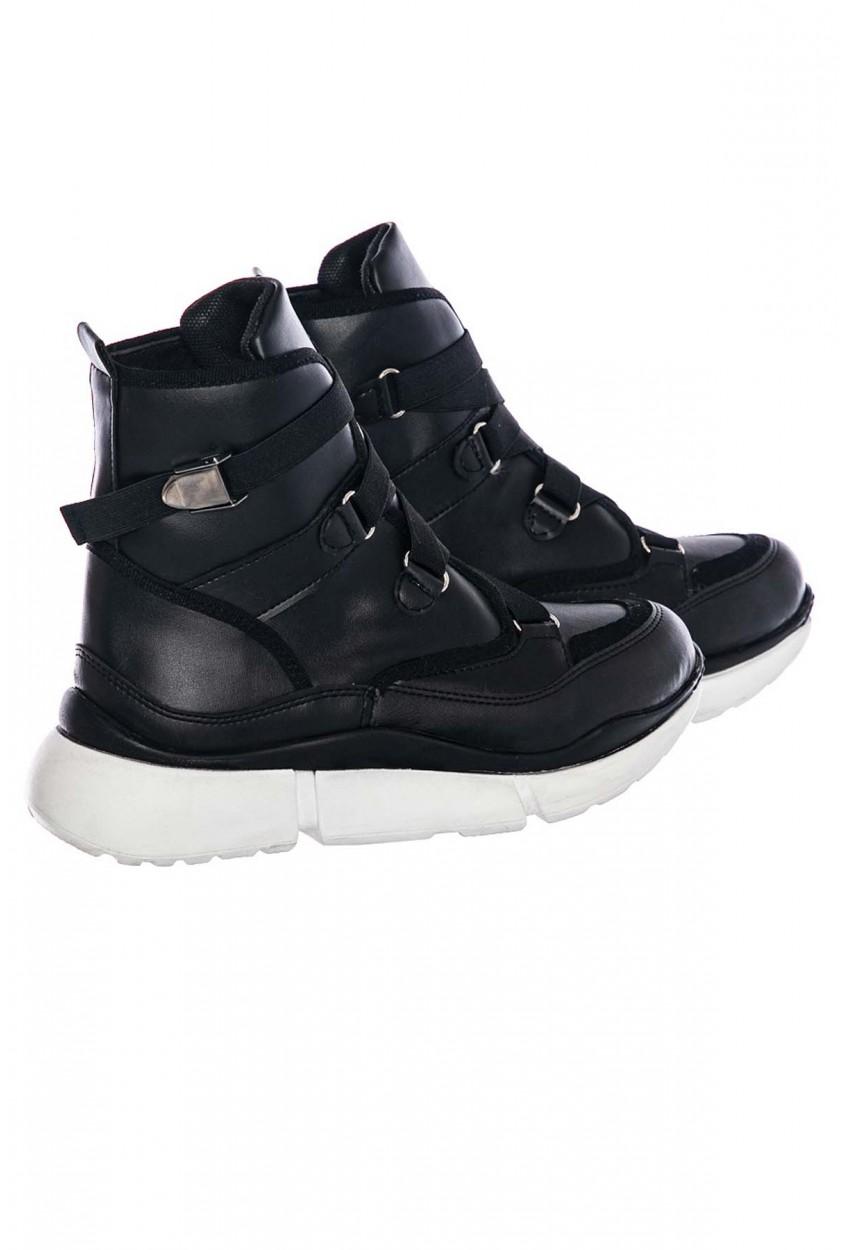 Bayan Boğazlı Spor Ayakkabı Siyah