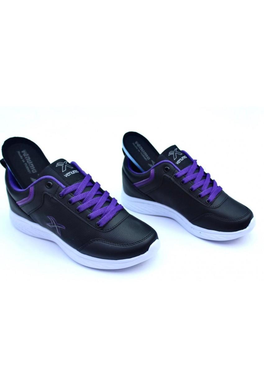 MODA  Spor Ayakkabı Siyah Mor