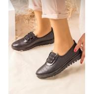 Bayan Deri Ayakkabı Siyah