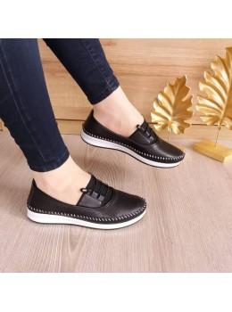 Bayan Ortopedik Deri Ayakkabı Siyah