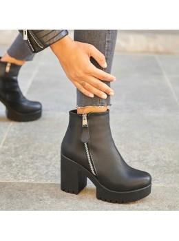 Kadın Topuklu Bot Siyah